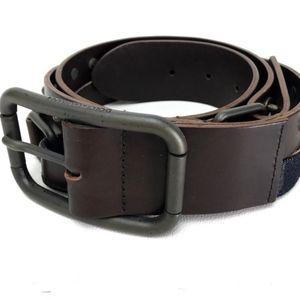 Dolce&Gabbana Brown D&g Denim and Leather Belt